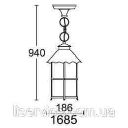 QMT 1685 Caior I Светильник парковый, стар/медь, фото 2