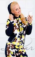 """Стильный прогулочный-спортивный женский костюм куртка+штаны""""Флис на трехнитке""""  42, 44, 46, 48 размер норма"""