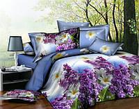Полуторный набор постельного белья 150*220 Полиэстер №153 Черешенка™