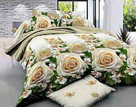 Полуторный набор постельного белья 150*220 Полиэстер №172 Черешенка™