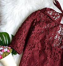Кружевной бордовый топ H&M, фото 3