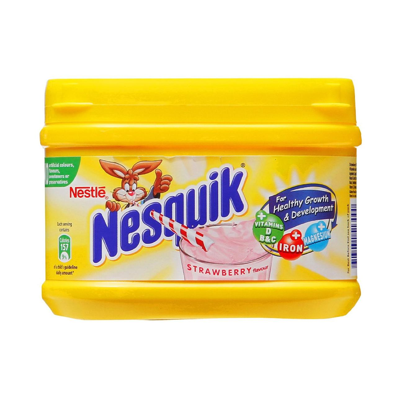 Напиток Nestle Nesquik Strawberry 300г клубничный