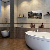 Плитка облицовочная глянцевая для стен ванных комнат BAMBOO
