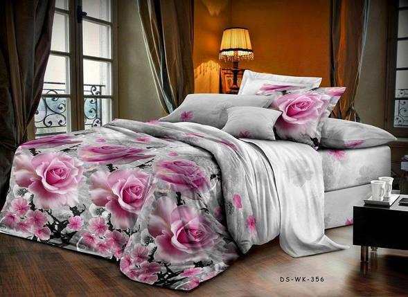 Полуторный набор постельного белья 150*220 Полиэстер №160 Черешенка™, фото 2