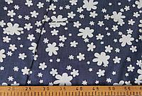 Джинсовая ткань рубашечная - (белый ромашка)