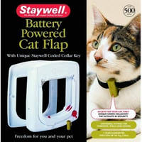 Staywell ПРОГРАМ дверцы для котов, с программным ключом, белый