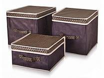 Короб для хранения вещей коричневый 30х30х16