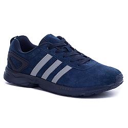 Кроссовки Adidas Синие Dark Blue (41-45) (качественная реплика)