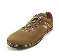 Туфли мужские Barzoni кожаные оливковые (р.40)