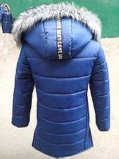 Теплая модная стеганая подростковая куртка с карманами., фото 3