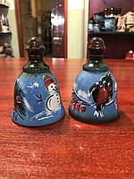 Колокольчик керамический Рождество рисованый