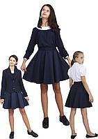 Юбка детская школьная м-1104 рост 104 110 116 12 128 134 140 146 152 158 цвета черный и синий, фото 1
