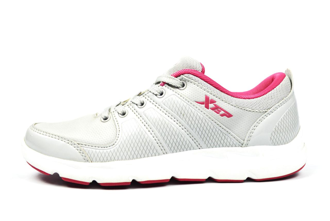 Серые кроссовки женские, подростковые Xtep для спорта, повседневной носки