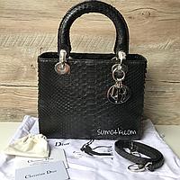 Женская кожаная сумка Christian Dior Lady кожа питона