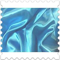 Атлас Простой Голубая Бирюза