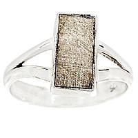 Метеорит Гибеона (Gibeon Meteorite), серебро 925, кольцо, 751КМ