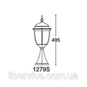QMT 1279S Dallas II Светильник парковый, стар/зол., фото 2