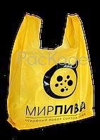 """Пакеты """"майка"""" с логотипом 35Х57, 20 мкм"""