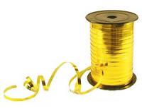 Лента металлизированная для шариков. Цвет: Золото. Длина: 200м. Пр-во:Украина.