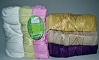 Набор махровых банных полотенец Cestepe Gold Bamboo 062 Бамбук 70х140см. (6шт.) - Турция