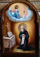 Икона рукописная Преподобный Виталий Александрийский