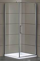 RUDAS душевая кабина квадратная 90*90*205 см, поддон (PUF) 5 см (с сифоном), распашная, стекло прозрачное, пра