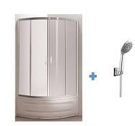 TISZA MELY душевая кабина 80*80*200  +  Набор душевой ручной душ 1 режим, шланг, держатель, блистер