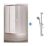 TISZA MELY душевая кабина 90*90*200  +  Штанга душевая L-63 см, мыльница, ручной душ 1 режим, шланг, блистер