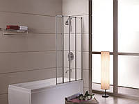 Шторка на ванну 89*140 см, цвет профиля хром