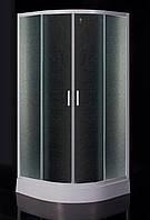 "TISZA душевая кабина 90*90*200 см, на мелком поддоне, профиль белый, стекло ""Zuzmara"""