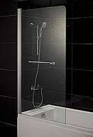 Штора на ванну 80*150, стекло прозрачное, левая