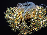 Светодиодная гирлянда Золотые ёлочки внутренняя 20 led , фото 1