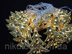 Светодиодная гирлянда Золотые ёлочки внутренняя 20 led