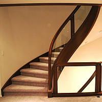 ЖБ лестница в подвал с третьего этажа