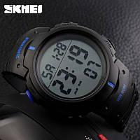 Оригинальные часы Skmei 1068 Blue / Водостойкие, противоударные спортивные часы !