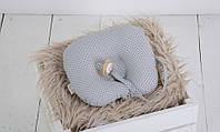 Детская подушка для новорожденных с держателем Grey