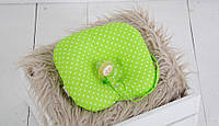Детская подушка для новорожденных с держателем Green