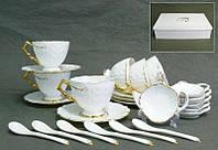 Чайный набор Lefard Золотая волна на 24 предмета 85-447