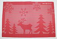 Салфетки-подложки для защиты стола (сетка) 30х45 новогодняя см