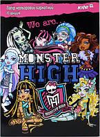 """Набор цветной бумаги бархатной """"Monster High"""" (10листов/10цветов)"""