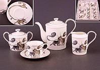 Чайный набор Lefard Веселые коты на 15 предметов 264-295