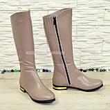 Сапоги женские кожаные демисезонные, цвет визон, фото 2