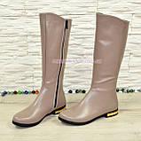 Сапоги женские кожаные зимние, цвет визон, фото 4