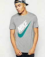 Брендовая футболка Nike, брендовая футболка найк, мужская с цветным принтом, все размеры, КП502