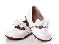 Детские туфельки для девочек оптом. X1109 White (12/6 пар, 20-25)
