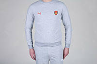 Спортивный костюм Puma-Arsenal, Арсенал, Пума, серый, К777