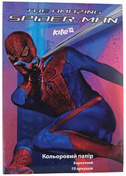 """Набор цветной бумаги бархатной """" Spider-Man"""" (10листов/10цветов)"""