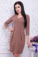 Молодежное платье ЮЛИЯ кофе Lenida 42-50 размеры
