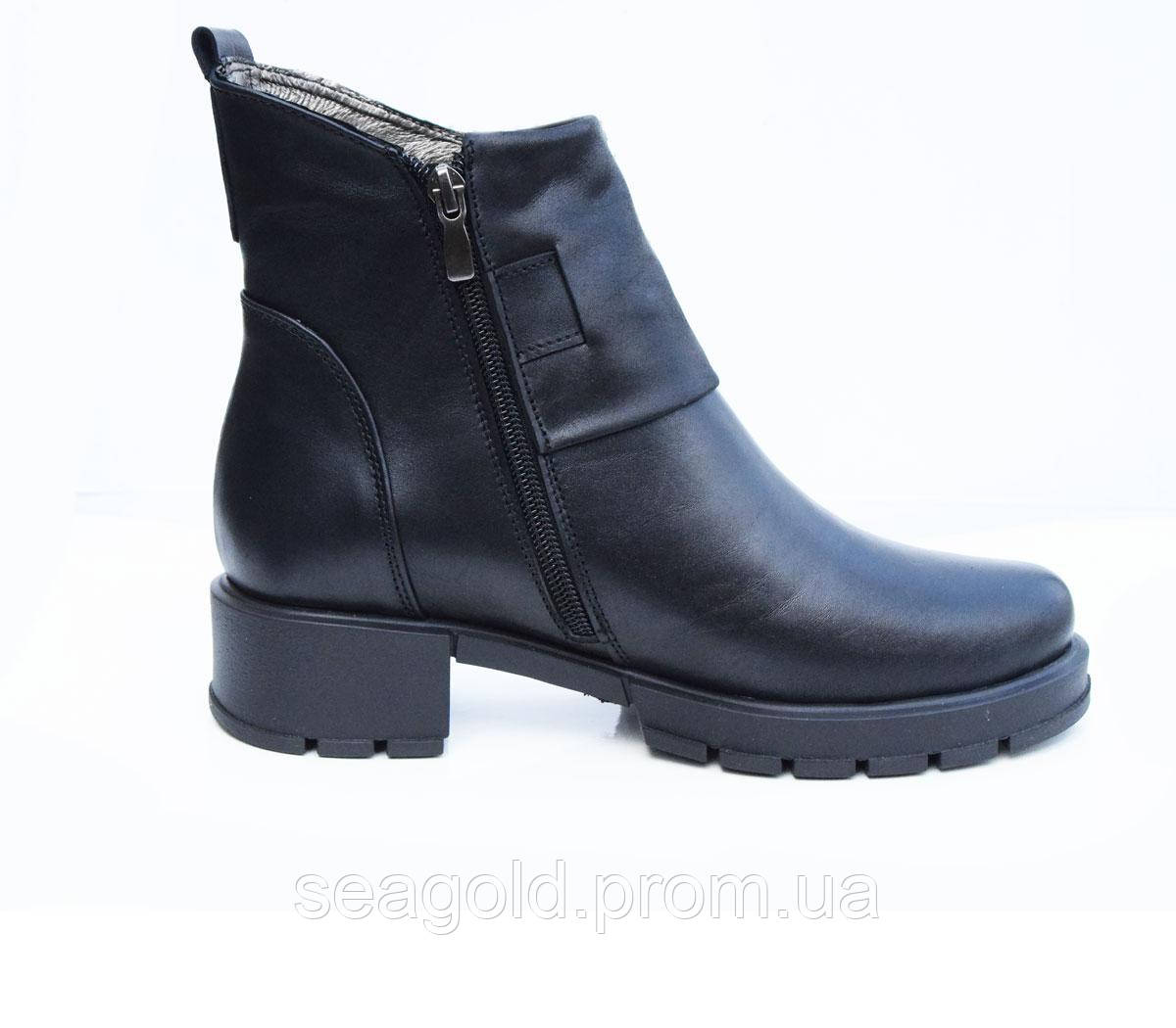 28ae42a41441 Женские модные кожаные ботинки мод.