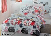 Сатиновое постельное белье евро ELWAY 5005
